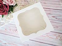 Коробка для изделий ручной работы с окном, 150х150х60 мм, цвет белый, 1шт