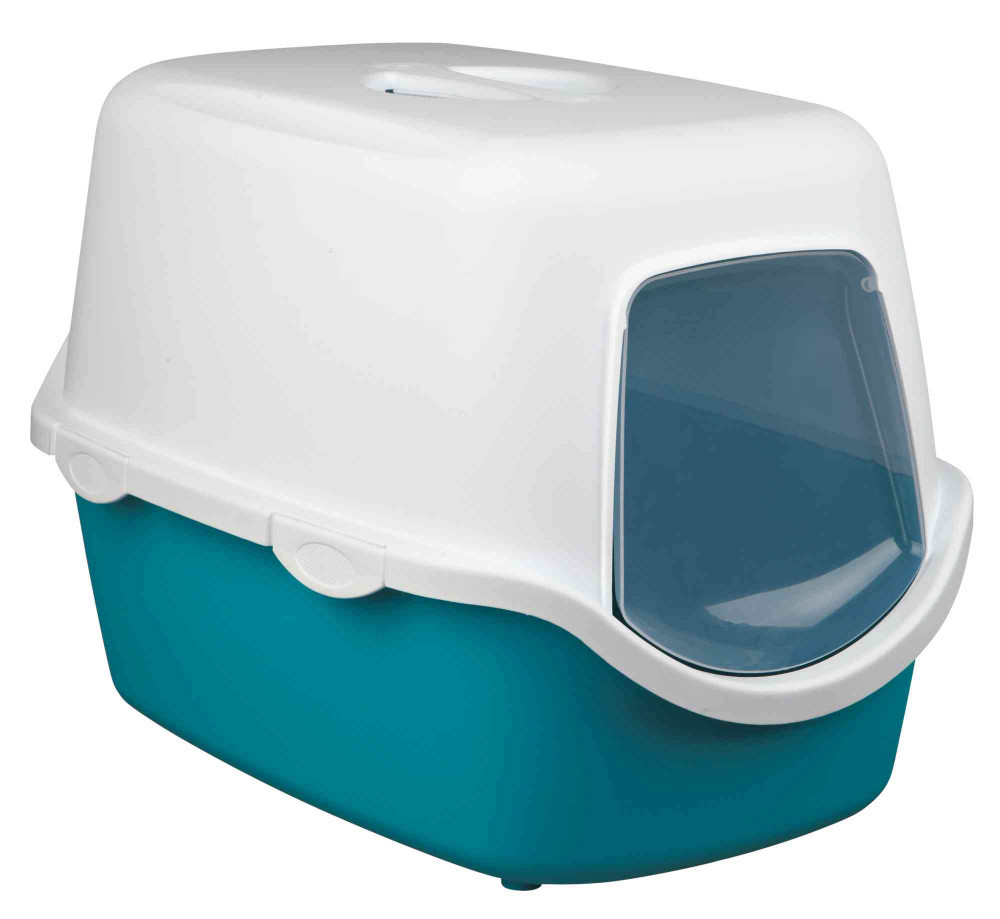 Закрытый туалет для кошек Trixie Vico бирюзовый 40х40х56 см