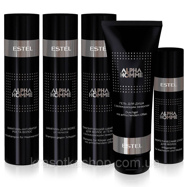 Шампунь для волос против перхоти ALPHA HOMME, 250мл