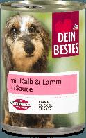 Dein Bestes рагу для собак с телятиной и бараниной в соусе 400 г ж/б (Германия)