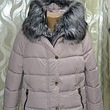 Модная куртка парка с мехом внутри р 46, X-Woyz LS-8806-25, фото 8
