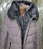 Модная куртка парка с мехом внутри р 46, X-Woyz LS-8806-25, фото 9
