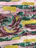 Женский  палантин тонкий кашемир с бахромой цвет разноцветный, фото 2