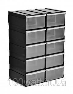 Емкости выдвижные (комплект 10 шт.) бокс 52-603