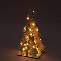 Декорация новогодняя Елки с LED подсветкой, высота 35 см.