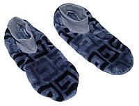 Тапочки - ботиночки женские домашние махровые 18205 Grey длина подошвы 28 см