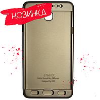 Чохол 360 градусів Samsung J7 Max Золотий | Чехол 360 градусов Samsung J7 Max Золотой, фото 1
