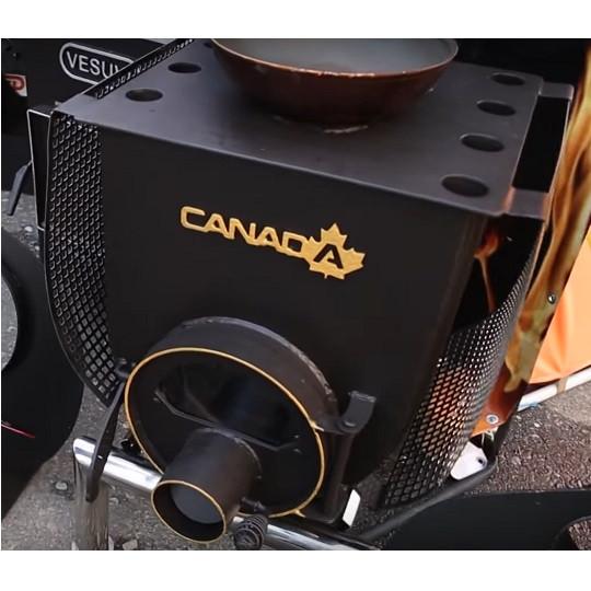 Печь Булерьян Canada с варочной поверхностью «02» со стеклом и перфорацией