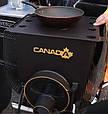 Печь Булерьян Canada с варочной поверхностью «02» со стеклом и перфорацией, фото 2