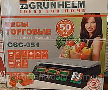 Весы торговые GRUNHELM GSC-051 (до 50 кг)
