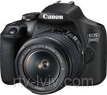 Фотоаппарат Canon EOS 2000D + EF-S 18-55mm f/3,5-5.6 DC III + torba SB130 + karta 16GB