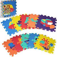 Игровой коврик-мозаика транспорт M 2620 развивающий коврик для детей