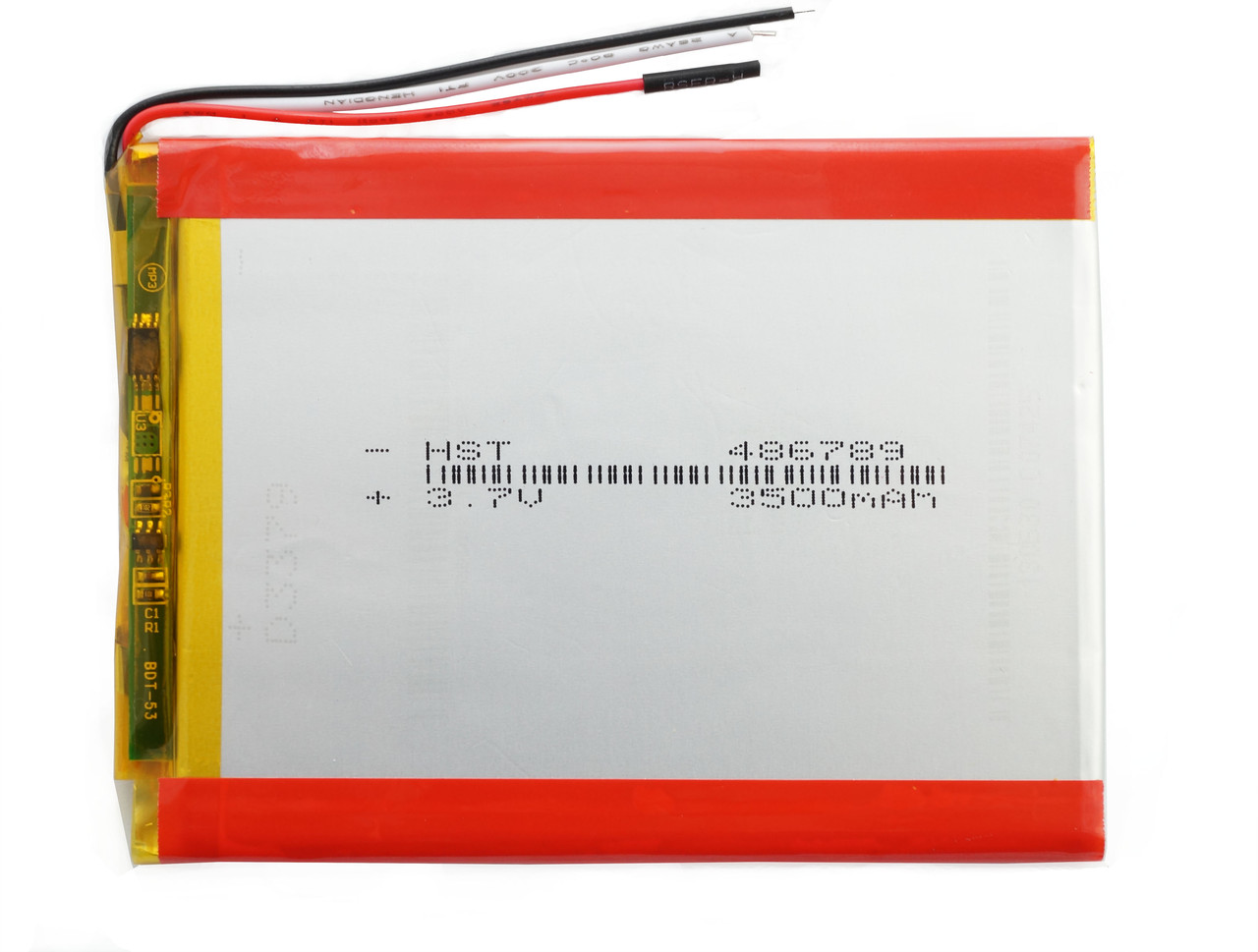 Аккумулятор для планшета 3 контакта (3 pin) 3500 mAh 456690 мм 3,7в универсальная батарея