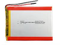 Аккумулятор для планшета 3 контакта (3 pin) 3500 mAh 456690 мм 3,7в универсальная батарея, фото 1