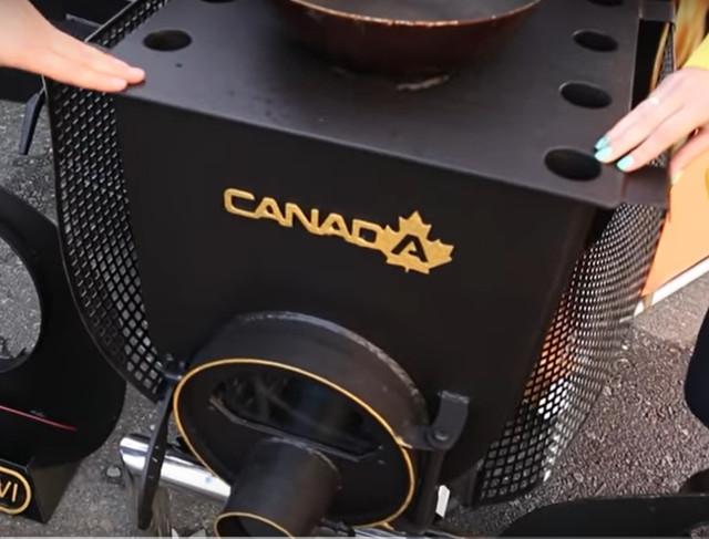 Конструкция печиБулерьян Canada с варочной поверхностью «02» со стеклом и перфорацией