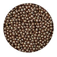 """Посыпка """"Рисовые шарики (бронзовые) 3-4мм."""", 50 гр."""