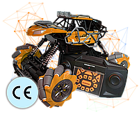 Трюковая Машинка Вездеход Fever Buggy4WD Оранжевая 4x4 На Радиоуправлении 2.4 GHz Масштаб 1:16