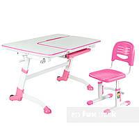 Детская парта-трансформер FunDesk Amare Pink+ Детский стул SST3 Pink