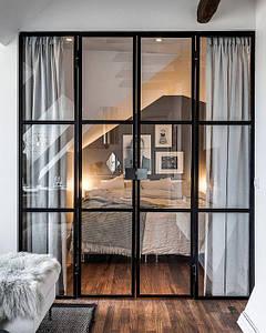 Стеклянная перегородка в стиле лофт Перегородки из стекла Стеклянные двери лофт Раздвижные двери из стекла