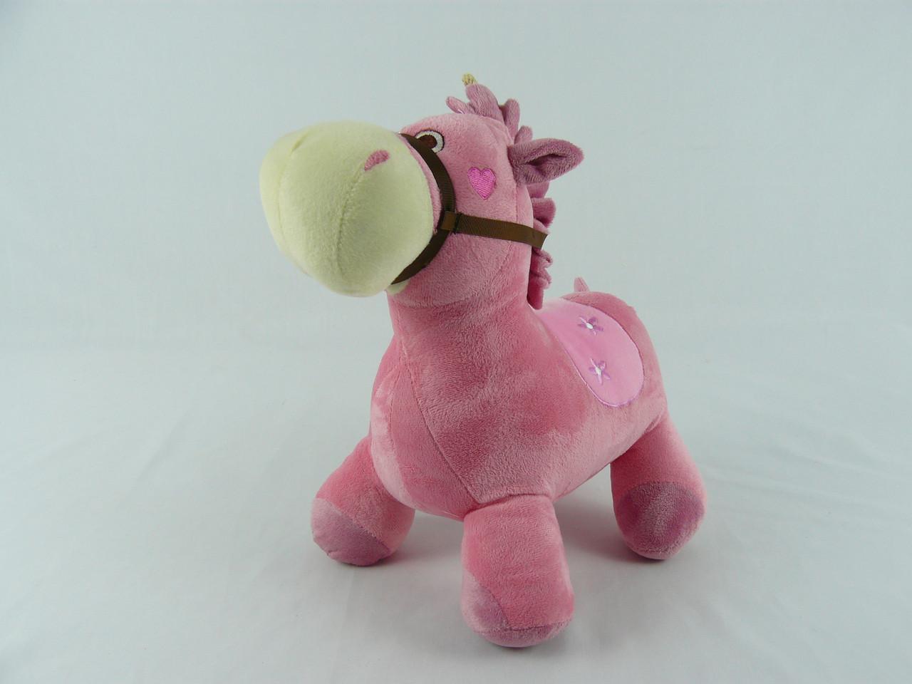 """Мягкая игрушка """"Лошадка розовая"""""""