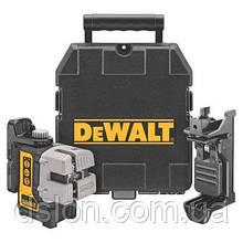 Лазер,самовырав. 3-х плоскостной (гориз+верт+бок) DeWALT DW089K, 4 бат. АА, ± 0.3мм/м, расст. 15м,чемодан.