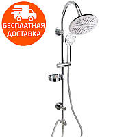 Душевой гарнитур с верхним душем Q-tap 1002 CRM хром
