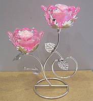 Подсвечник двойной Розы - изящный подарок для девушки