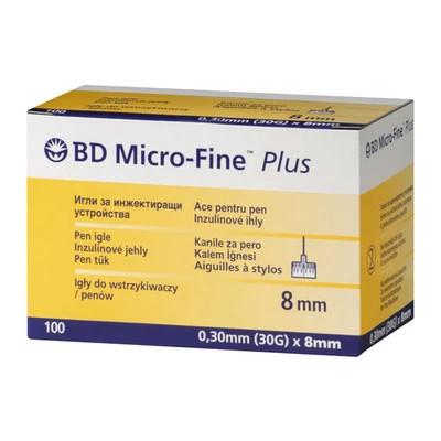 100 шт-Иглы BD Microfine 31G (0,25х8 мм) для инсулиновых шприц-ручек .