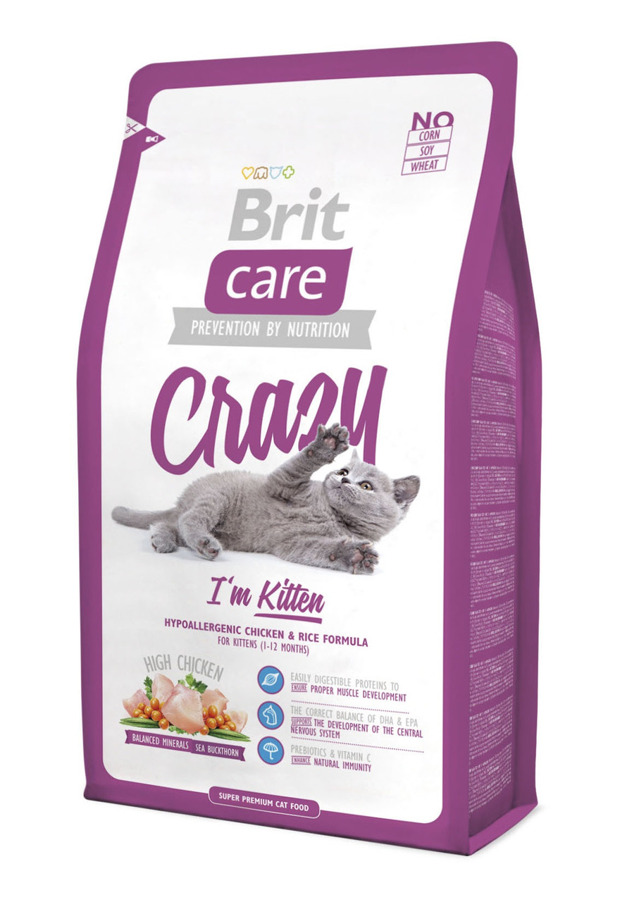 Сухой корм для котят Brit Care Crazy I'm Kitten с курицей 2 кг