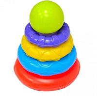 Игрушки и детские товары.Пирамидка детская цветная.Детская пластиковая пирамидка.