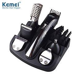 Триммер KEMEI 11 в 1. Набор для стрижки волос,бритва,тример для носа