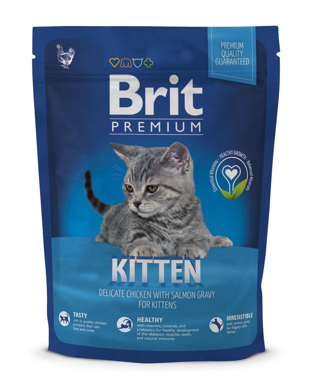 Сухий корм для кошенят Brit Premium Kitten з куркою 300 г