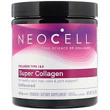 "Супер-коллаген в порошке Neocell ""Super Collagen"" тип 1 и 3, без вкуса, 6600 мг (198 г)"