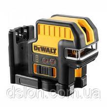 Лазер самовыравнивающийся DeWALT DCE0825LR,2 луча+5 точек,(красный)10.8В, Li-Ion,±0.3мм/м,адаптер батарей 4хАА