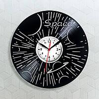 Космос Виниловые часы Галактика часы Парад планет декор Настенные часы Лечу в Космос Космическое пространство