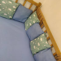 Бортики в детскую кровать с простынью на резинке |  Бортики в дитяче ліжко з простирадлом