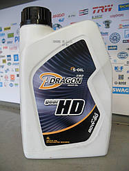 Трансмиссионное масло S-oil Dragon HD 80w90
