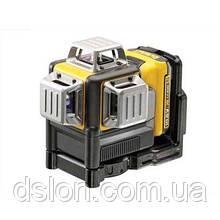 Лазер самовырав. 3-х плоскостной (гориз+верт+бок) DeWALT DCE089D1G, (зеленый луч) 10.8V Li-Ion 1 аккум.