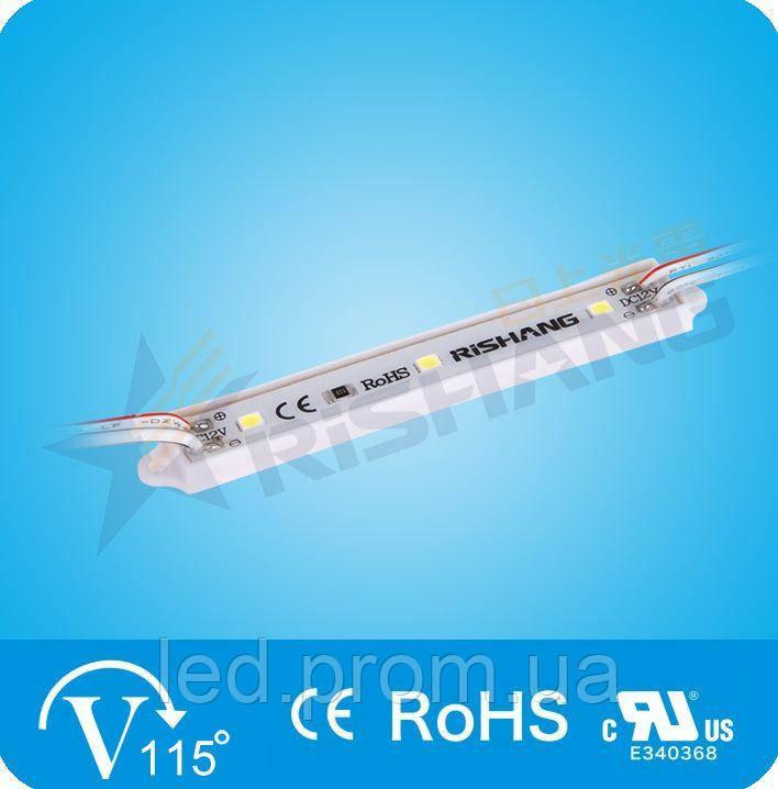 LED-модуль 3-2835-12V-IP65 70Lm 0.7W 7000K (M143TA)