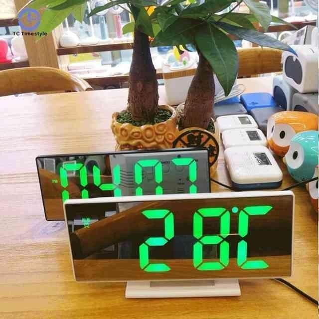 Зеркальные часы Электронные настольные годинник зеркало цифровые часи