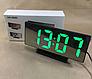 Зеркальные часы Электронные настольные годинник зеркало цифровые часи, фото 7