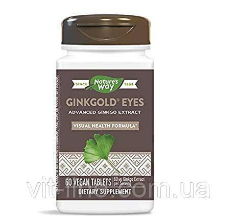 Nature's Way, Витамины для зрения Ginkgold Eyes, 60 таблеток, фото 2