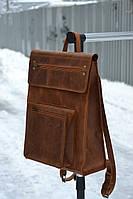 Рюкзак из натуральной кожи для мужчин и женщин ручной работы 🎒
