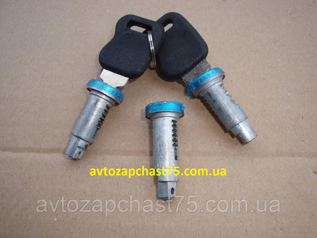 Личинка замка с ключами Газ 31105 (производитель Россия) комплект 3 штуки
