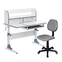 Растущий комплект для школьников парта Cubby Nerine Grey + компьютерное кресло LST4 grey
