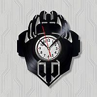 Танки часы Игры он-лайн Часы игра Часы с винила Настенные часы Часы черные Часы фигурные Игры войны 30 см