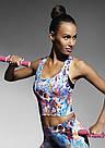 Спортивный бюстгальтер топ Bas Bleu Caty Top цветной принт  Польша, фото 4