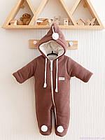 """Демисезонный комбинезон для новорожденных """"Гномик"""", коричневый каштан, фото 1"""