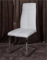 Стул металлический Данте DS-1856 белый кожзам, хромированный каркас 59,5х42х96,5