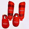 Захист для ніг (гомілка+фути) ARW червона розбирається WKF розмір XL для єдиноборств